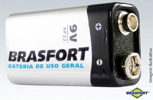 (30un) Pilha Bateria 9v Brasfort - 6312 - Revenda Atacado