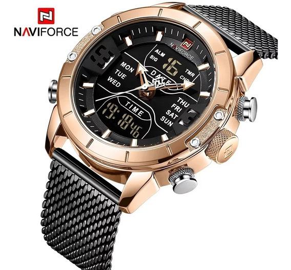 Relógio Masculino Naviforce Nf9153-ce Original Laçamento