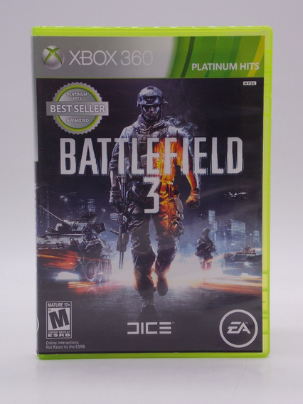 Battlefield 3 Xbox 360 E Xbox One Original Mídia Física