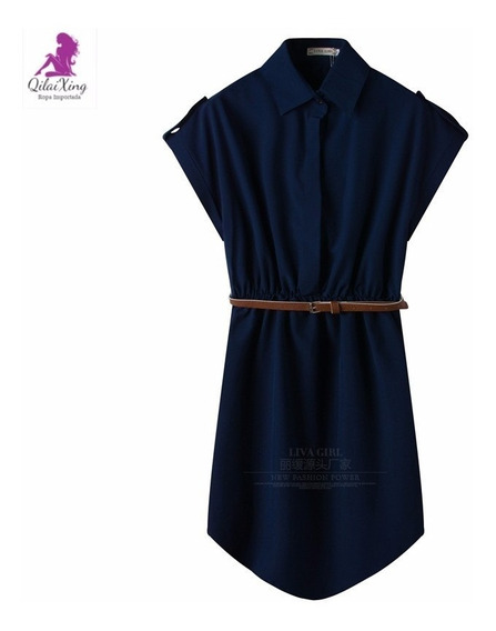 Vestido Importado Estilo Camisa Qilaixing