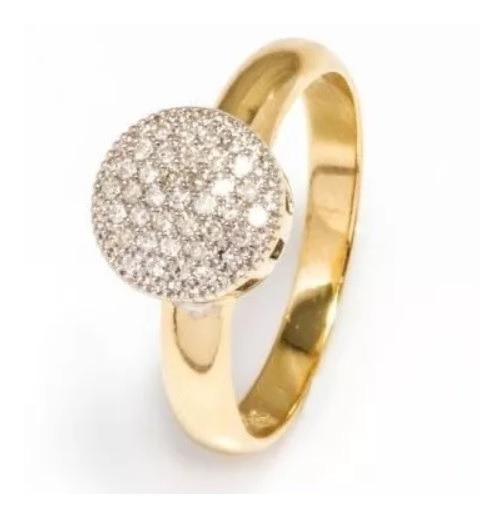 Anel Chuveiro P De Ouro + 37 Diamantes Naturais An50vivarjoi