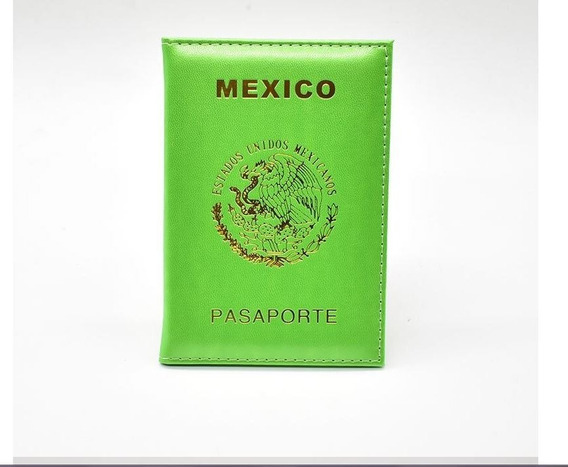 Porta Pasaporte Y Visa Escudo Mexico