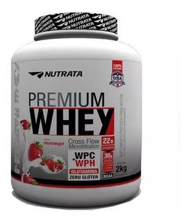 Premiun Whey Nutrata 2kg Hidrolisado E Concentrado + Brinde