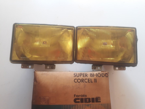 Par Farol Corcel 2 Belina 78/84 Cibie Bi-iodo Amarelo Cavali