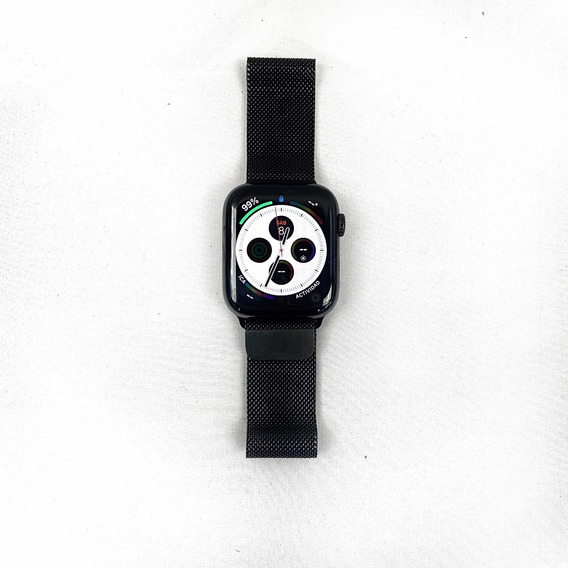 Apple Watch Series 4 44mm Acero Inoxidable Malla Negro