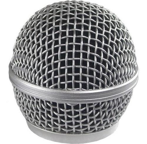 Imagem 1 de 5 de Globo De Microfone Sem Fio (prata)  Lyco/karsect/onix/outros