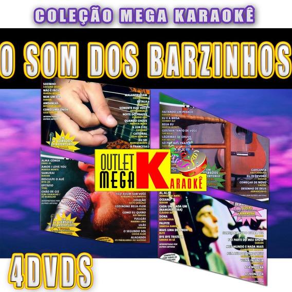 O Som Dos Barzinhos Karaokê - Kit 4 Dvds Música Nacional 12x