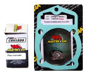 Pino Cursado + Flange 2mm Crf230 / Xr200 / Cbx200