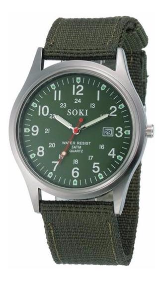 Relógio Feminino Pulso Soki Verde Promoção Barato