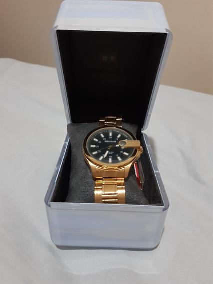 Relógio Masculino Seculus Dourado Super Conservado