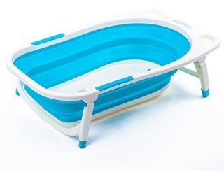 Bañera Plegable Portátil Para Bebés, Azul
