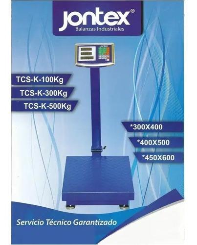 Imagen 1 de 1 de Balanza Plataforma Electrónica De 500 Kg Jontex