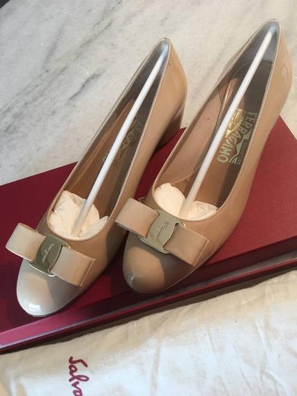 Baixou! Sapato Salvatore Ferragamo Vara Bow Pump Shoes