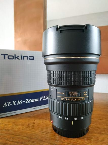 Lente Tokina 16-28mm F/2.8 At-x Pro Fx (para Canon Ef)