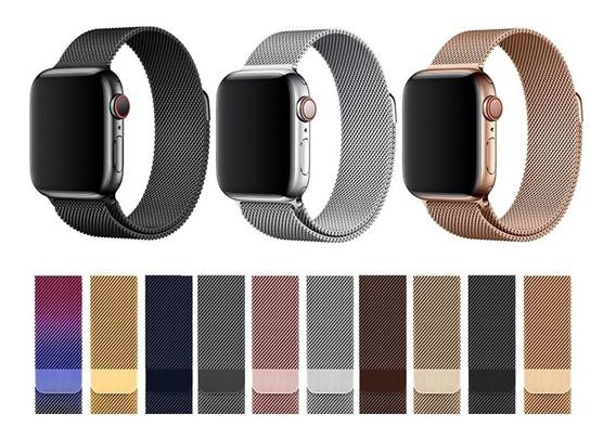 Pulseira Apple Watch Milanês Loop Magnética 40mm 44mm 42mm