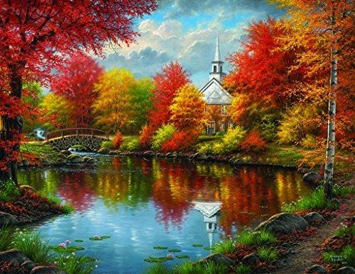 Autumn Tranquility 1000 Pc Puzzle De Piezas Grandes Por Suns