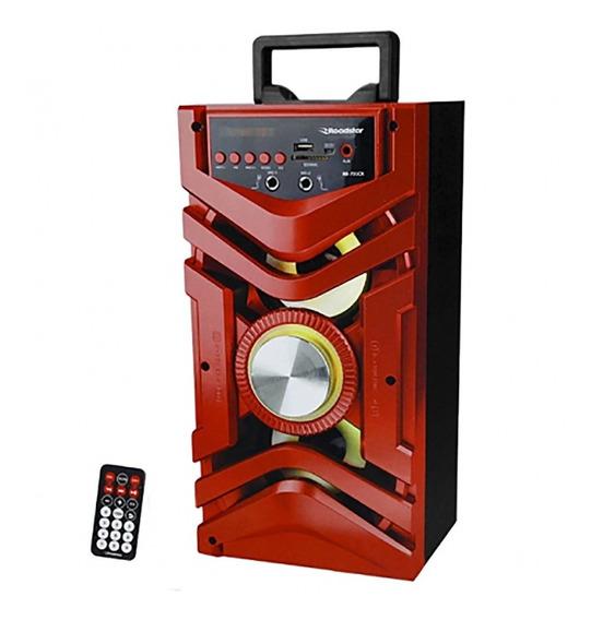 Caixa Som Roadstar Rs731cx Vermelho Karaoke Controle Remoto