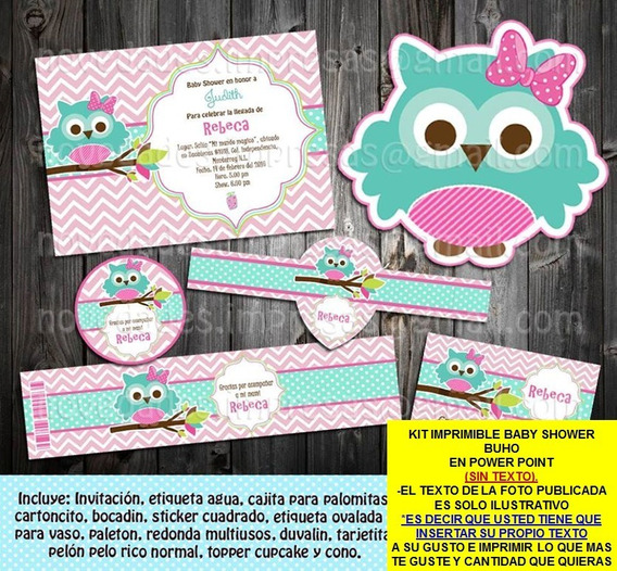 Kit Imprimible Baby Shower Buho Sin Texto Promo 2x1