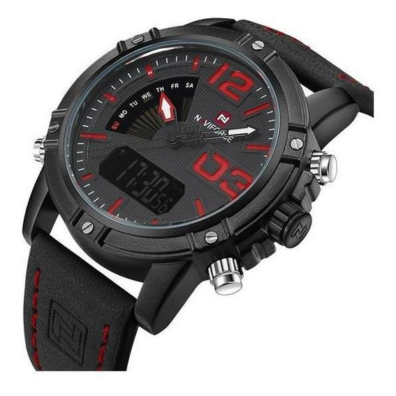 Relógio De Pulso Masculino Original Naviforce 9095