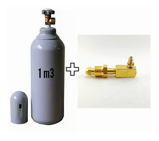 Cilindro Nitrogênio 1m3 7lts + Adaptador N2