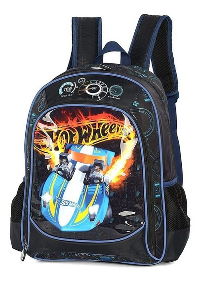 Mochila Escolar Infantil Hot Wheels Carro Luxcel 011601