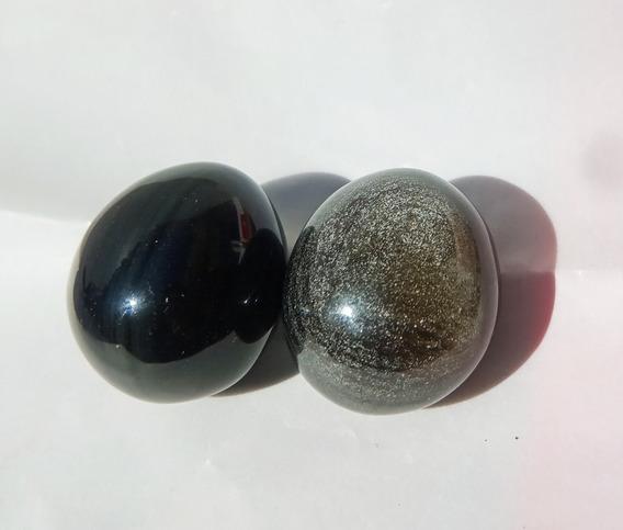 2 Huevos De Obsidiana Para Sanacion
