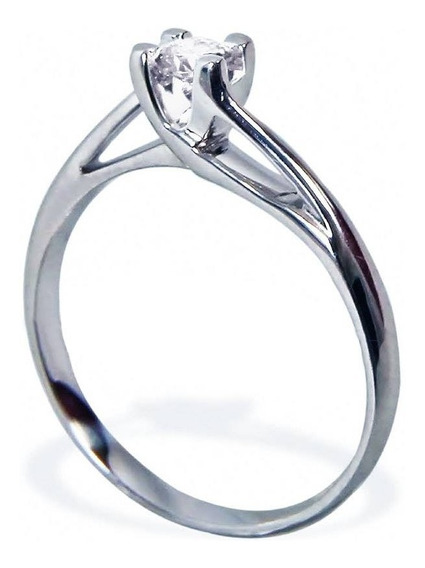 Anillo De Compromiso Dd2 Diamante Natural 10 Puntos Oro 14k