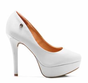 bfaf9602 Zapatos De Mujer Cerrados Y Altos Con Taco Grueso - Zapatos Blanco ...