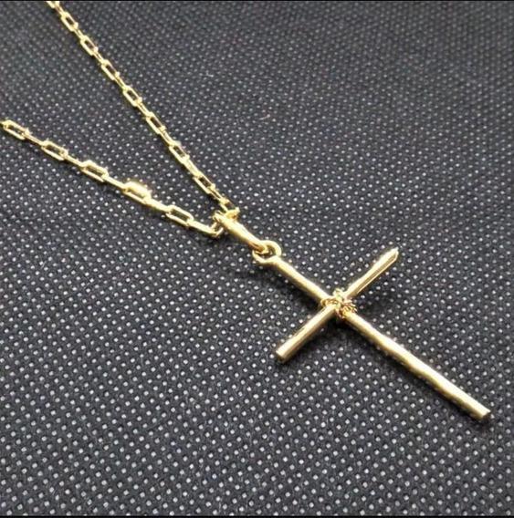 Cordão Masculino 2mm 50cm Banhado Ouro Com Ping