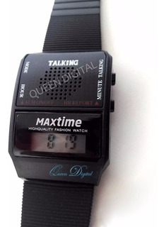 Reloj Talking No Vidente Baja Visión Para Ciego Dice La Hora