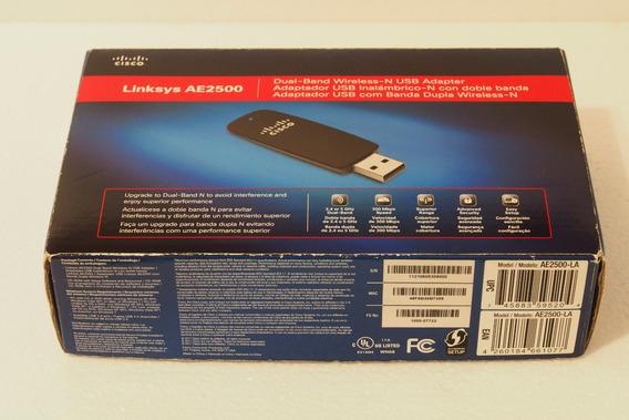 Placa De Red Usb Linksys As2500 Dual-band 2.4 O 5 Ghz