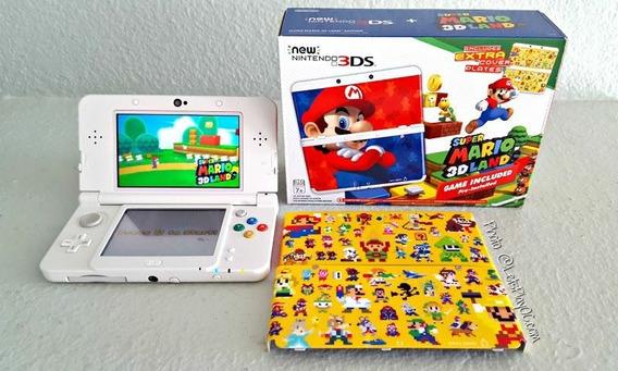 New Nintendo 3ds Completo + 32gb Com Muitos Jogos