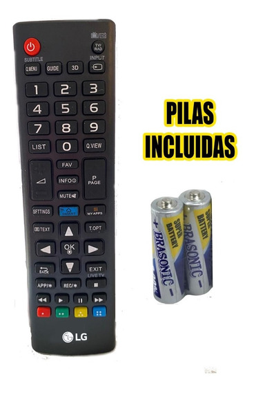 Control Remoto Lg Smart Tv + 4 Pilas