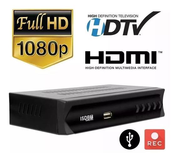 Conversor Digital Tv Recepção Vhf E Uhf + Antena Full Hd