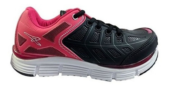Zapatillas Para Niña Athix Negro/pink