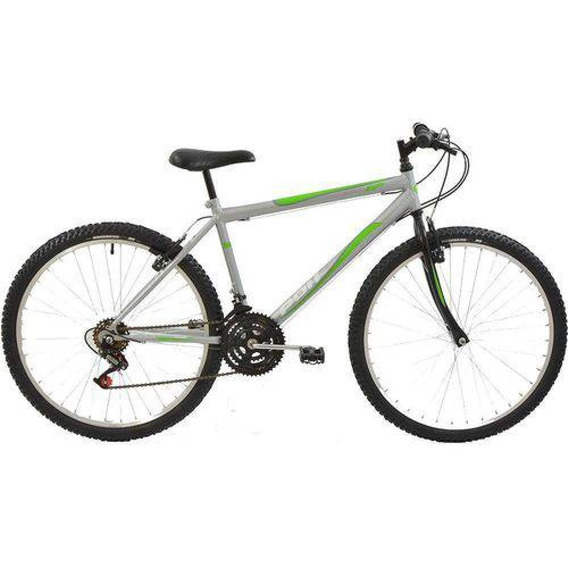 Bicicleta Polimet Mtb Aro 26 Masculina Prata