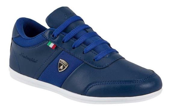 Tenis Casual Lamborghini 7784 Niño Azul Marino 821856