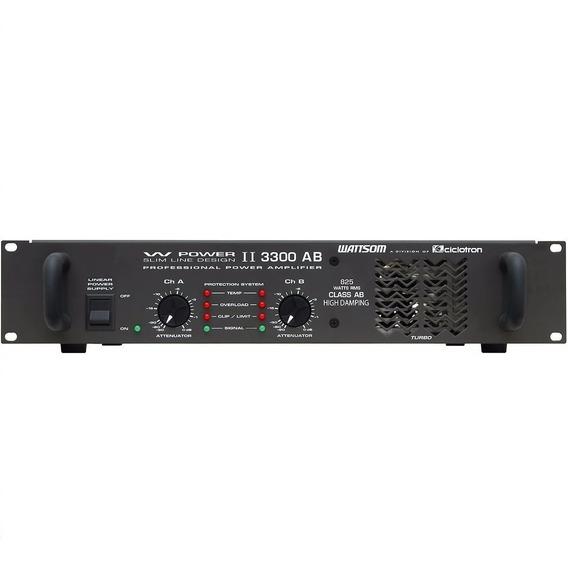 Potência Ciclotron W Power 3300 825w Rms