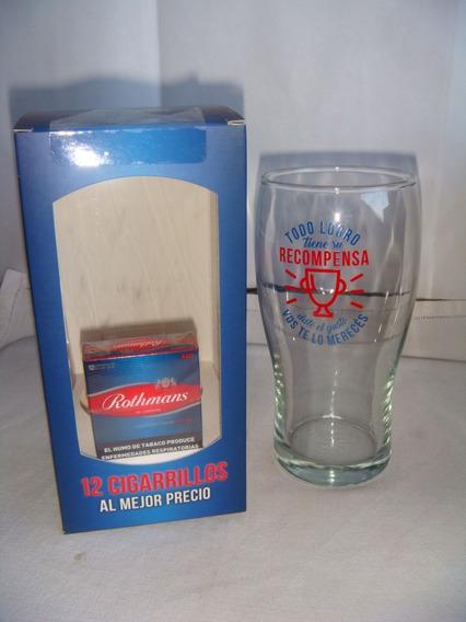 1 Pack : Caja De Cigarros Rubios X 12 + Vaso ( London)