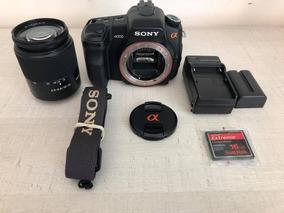 Câmera Sony A200 10.2mp Linda 12x Sem Juros + Frete Grátis!
