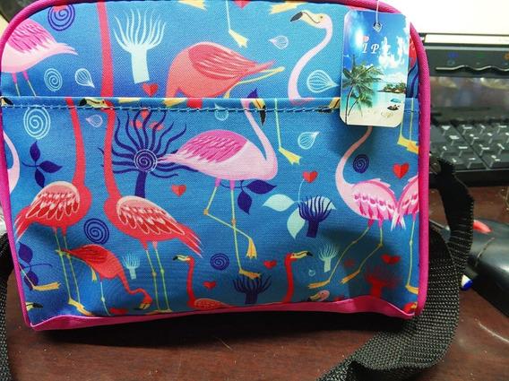 Bolsa Térmica Flamingo Feminina Porta Latinha Marmita