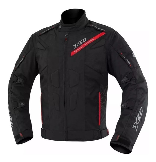 Jaqueta X11 Evo3 Moto Preta E Vermelho 100% Impermeável Nf