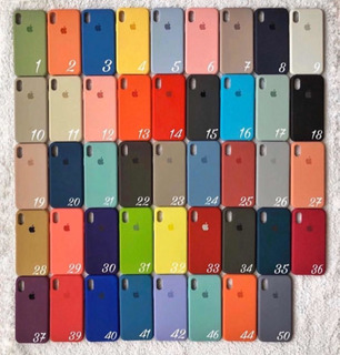 Funda Silicone Case iPhone X Xs Xr Xs Max 11 11 Pro 11 Max