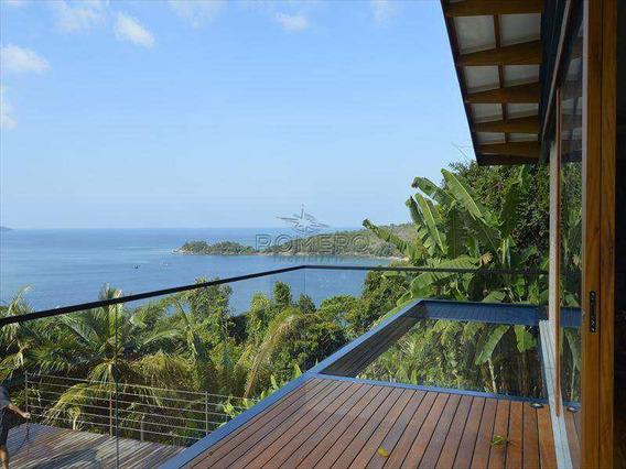 Casa Espetacular Com Deslumbrante Vista Para O Mar E Ilhas De Ubatuba, Em Condomínio Fechado, Com Total Segurança E Privacidade, Construção E Acabamento De Muito Bom Gosto, Situada Na Praia Do Pulso,