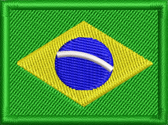 Patch Bordado - Bandeira Brasil - 5 Cm