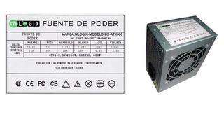 Fuente Mini Atx Mlogix 600w P/gabinetes Cx Slim Compatible