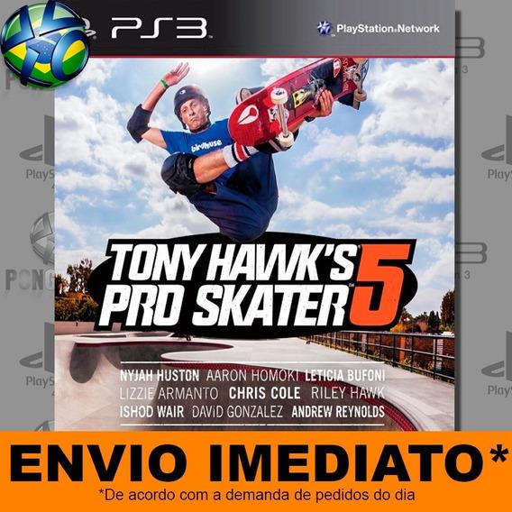 Jogo Ps3 Tony Hawks Pro Skater 5 Psn Play 3 Envio Imediato
