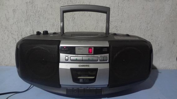 Micro System _ Aiwa Csd 225 _ Rádio /cd / Tape _ Func.tudo !