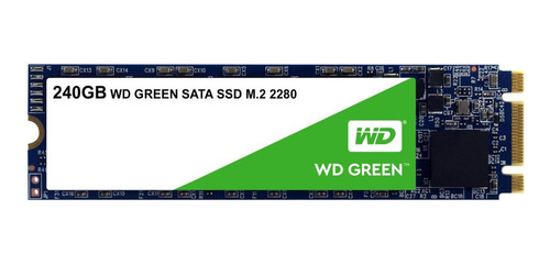 Imagen 1 de 2 de Disco sólido interno Western Digital WD Green WDS240G2G0B 240GB verde