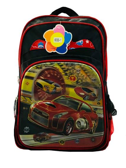 Mochila Escolar Infantil Carro